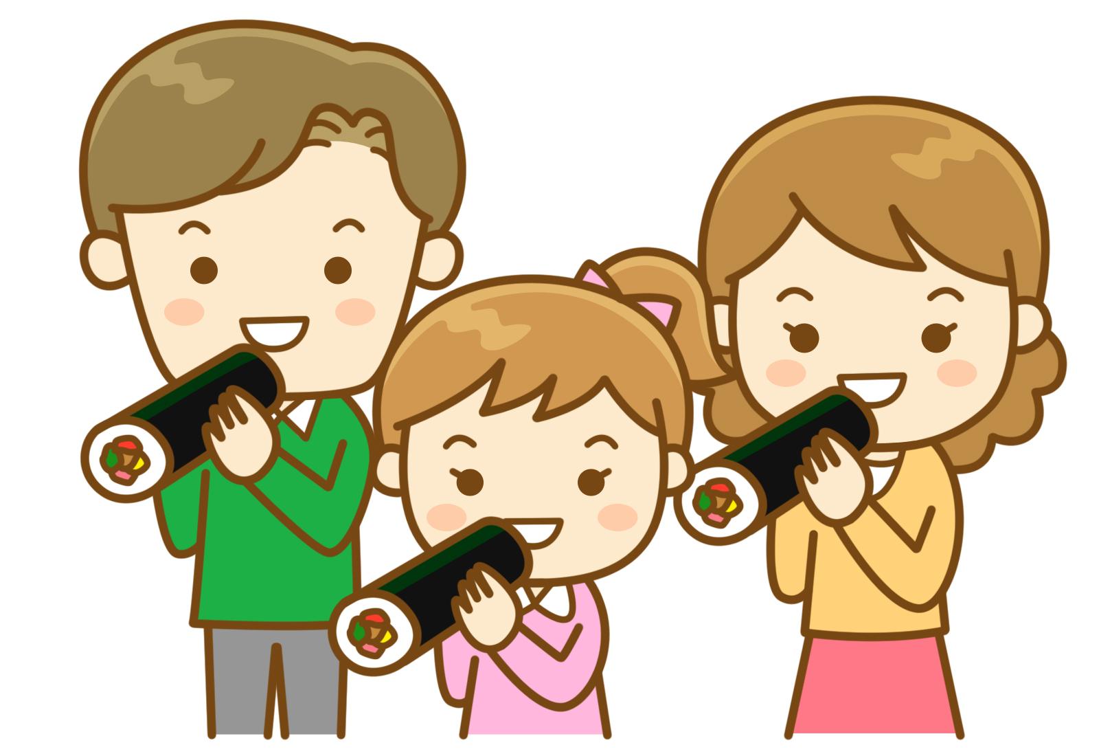 恵方巻き子供でも出来る簡単レシピと準備する物は?食べる方角と時間は?